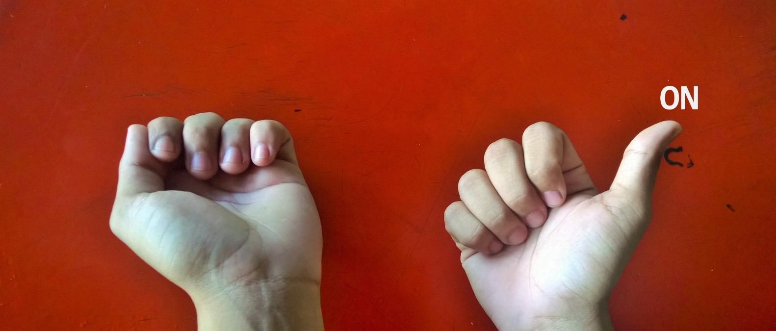 A new way to count with fingers