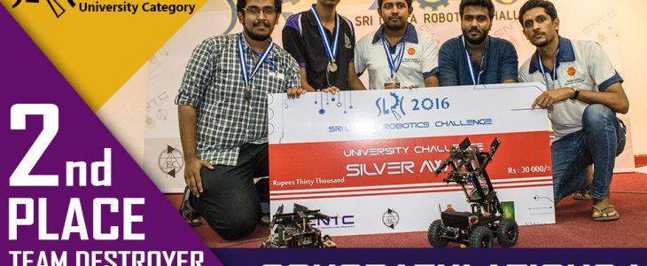 Silver Winners of Sri Lanka Robotics Challenge-2016