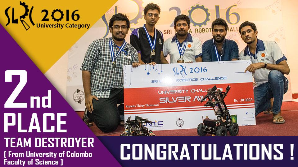 Silver Winners of Sri Lanka Robotics Challenge-2016