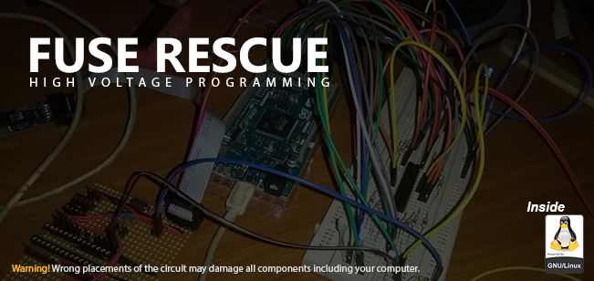 Fuse Rescue using High Voltage Programming with Arduino