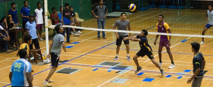 Freshers' Volleyball blazes the score board.