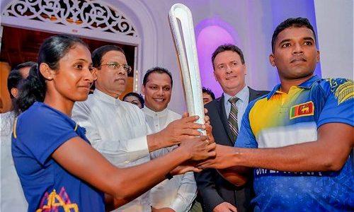 Queen's baton in Sri lanka