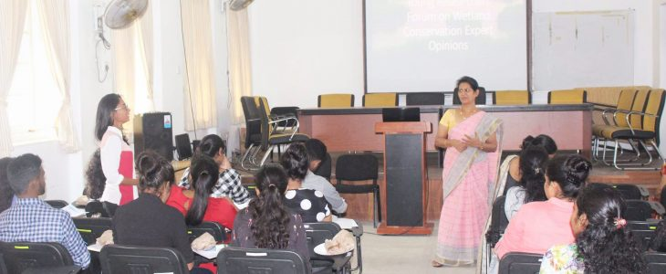 To spark the young for Wetland Conservation