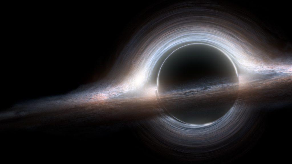 interstellar black hole image