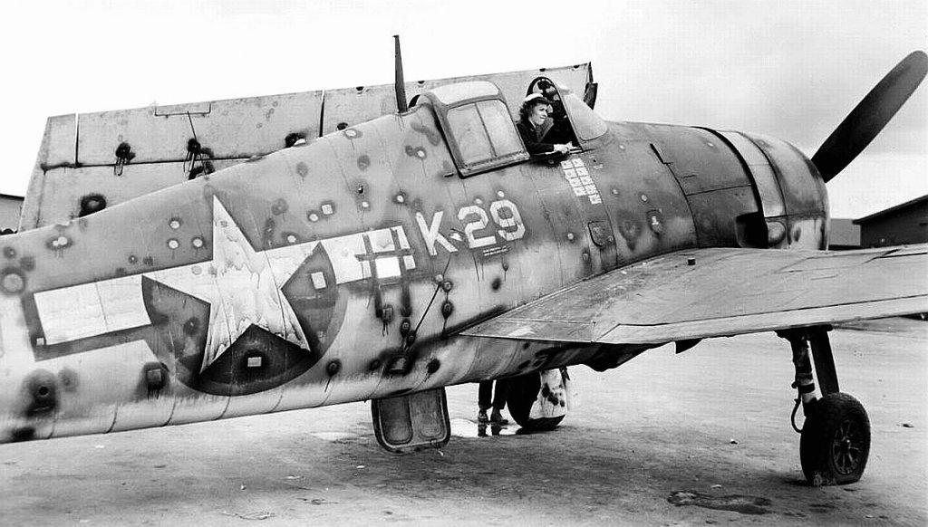 World War II aircraft with bullet holes