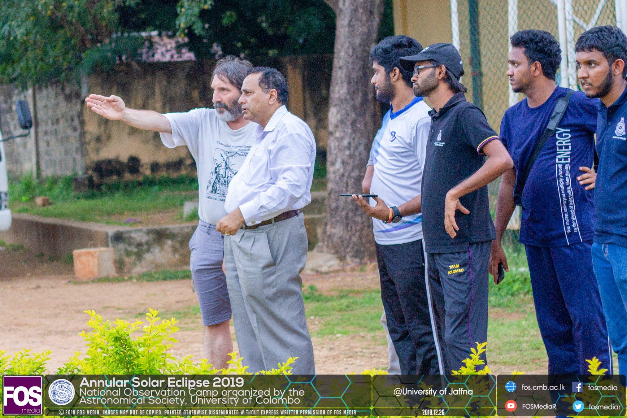 Dr. Gavrilov and Prof. Chandana Jayarathne deciding where to set up our site