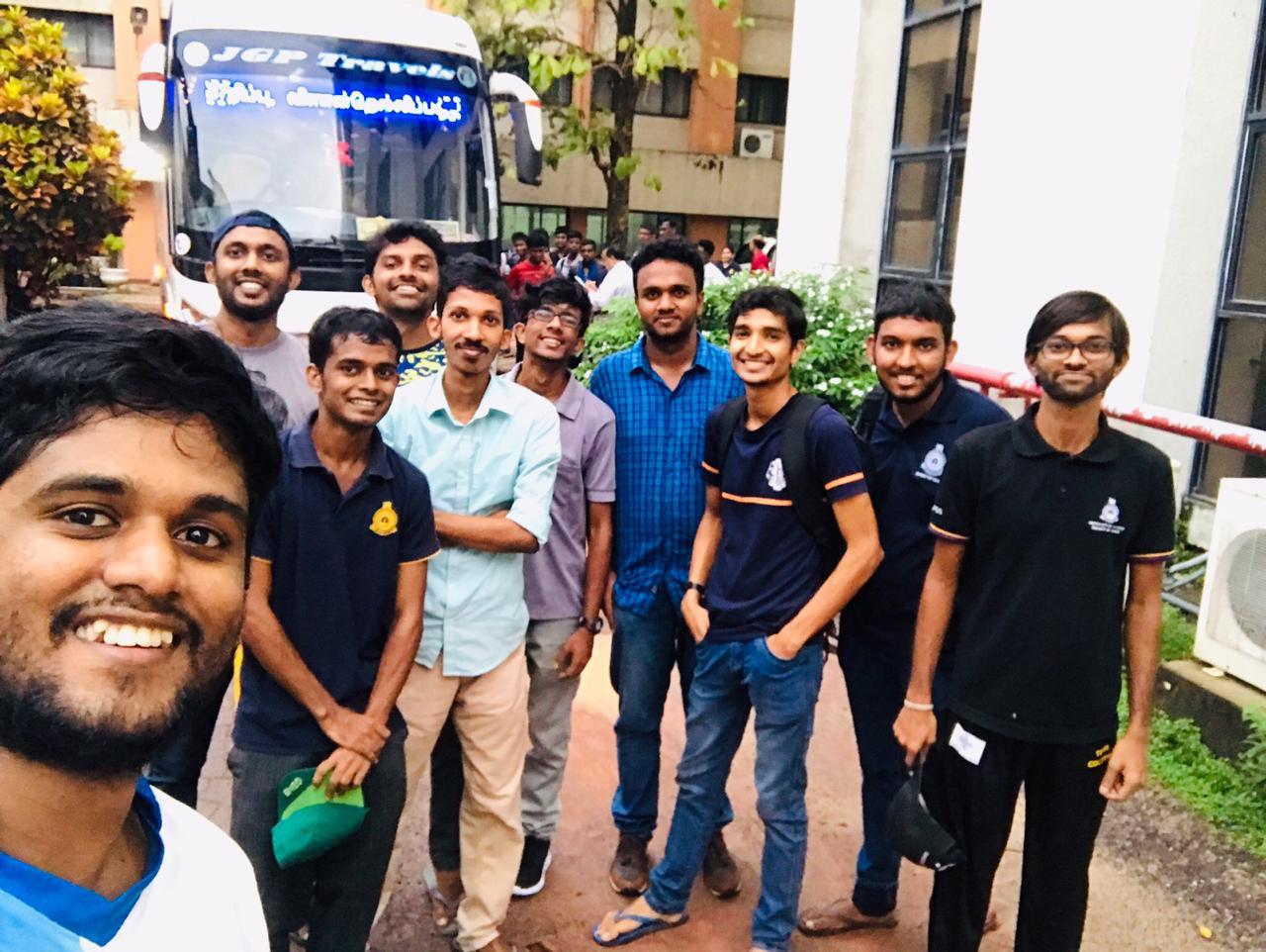The gang of ten before leaving for Jaffna