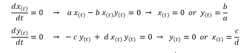 Stationary points of Lotka-Volterra equation