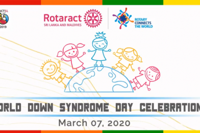 Rotaractors celebrate World Down Syndrome day 2020