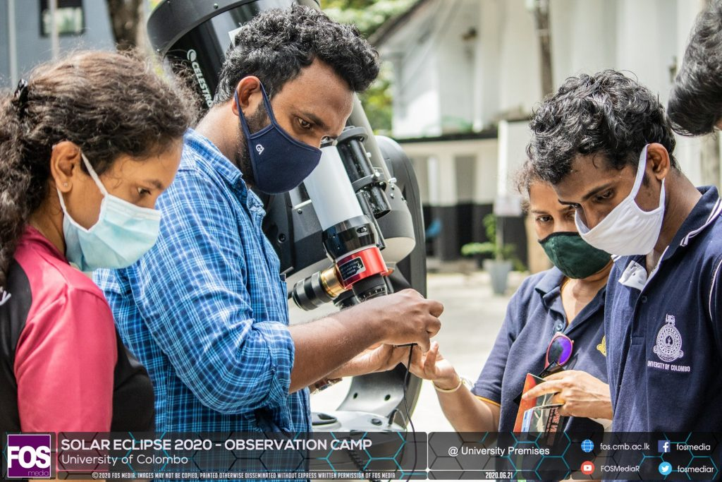Members of the Astronomical society of the University of Colombo