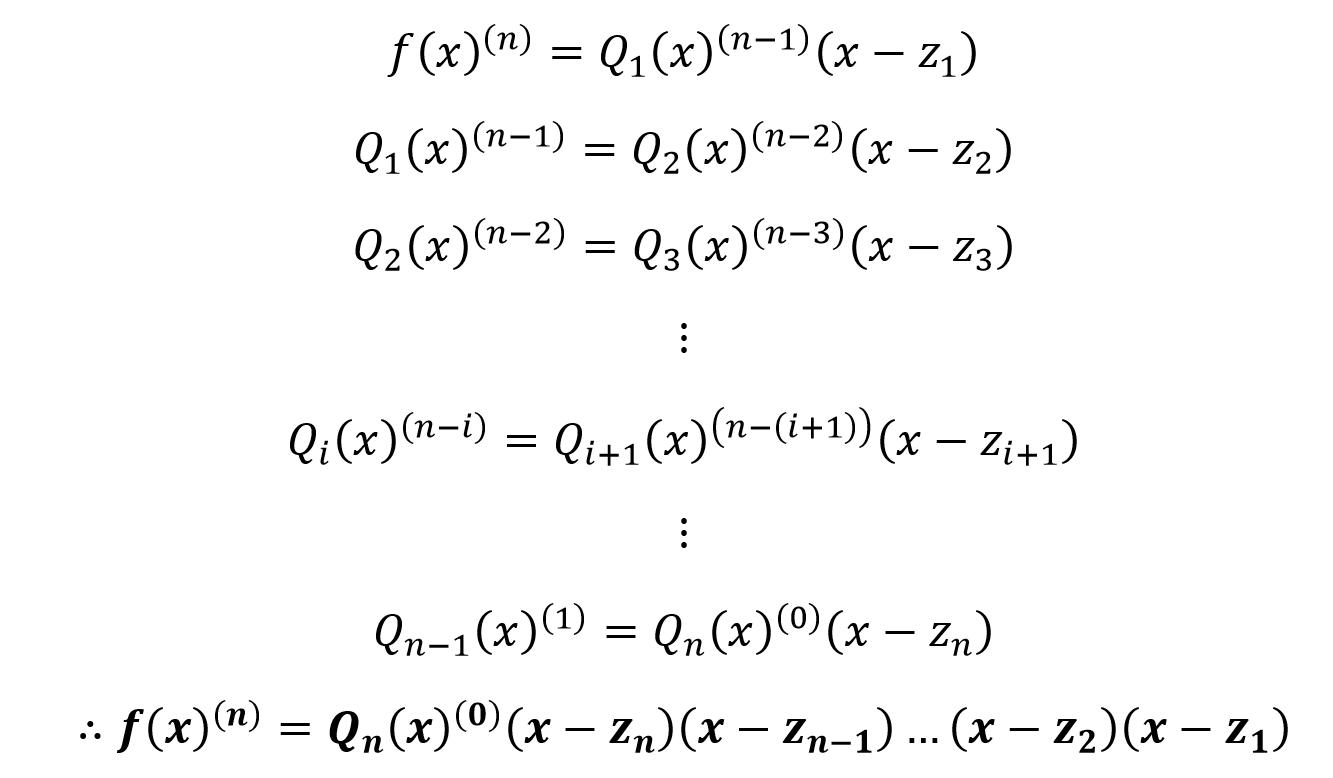 complex factorization of polynomial