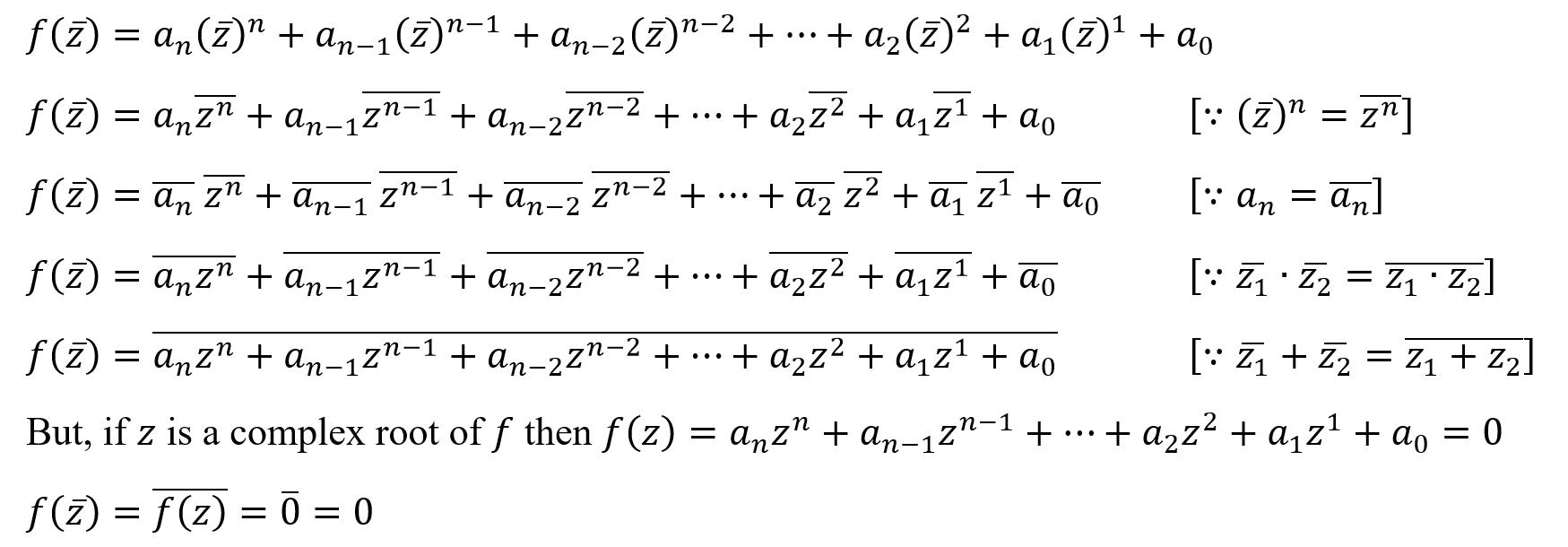 complex conjugate pair theorem