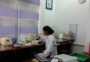 Ms. Warunika at Molecular Biology Laboratory.