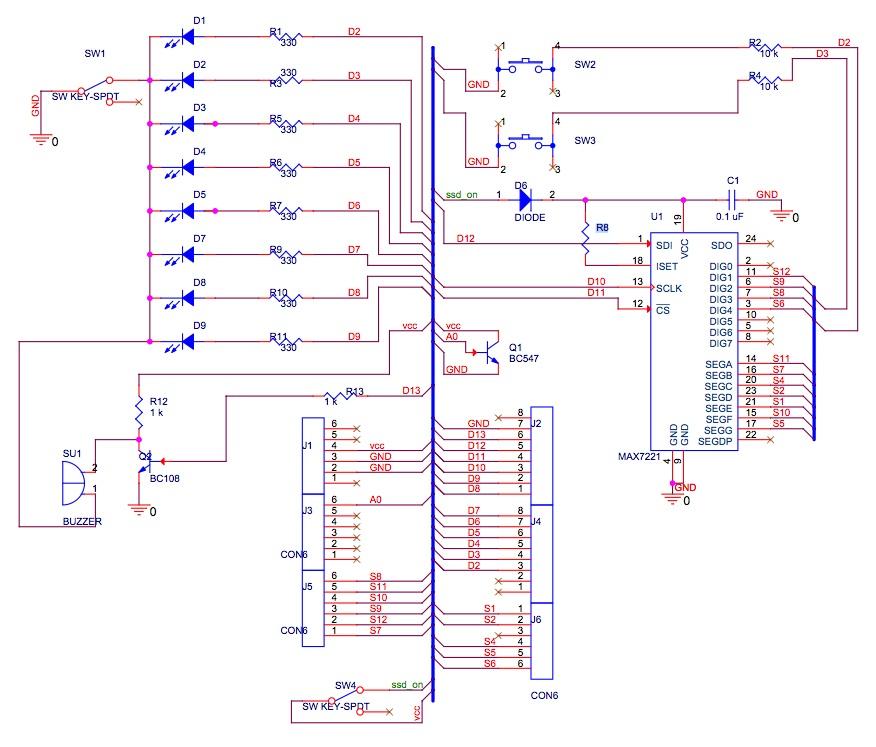 General purpose input output arduino shield embedded